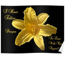 Yellow Lilly Flower  Poster