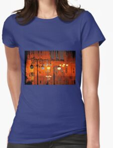 The Essence of Croatia - Zagreb Night Lights Womens Fitted T-Shirt