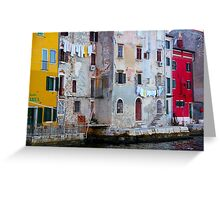 The Essence of Croatia - Pastel Houses of Rovinj Greeting Card