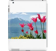 Tulips on the lakeside iPad Case/Skin