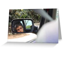 Say remember when we were driving, driving in your car Greeting Card