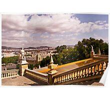 The Landscape of Montjuïc, Barcelona - Spain Poster