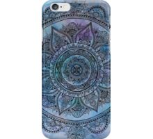 Blue Mandala Transparent Background iPhone Case/Skin