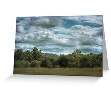 Golfcourse Cloudscape Greeting Card