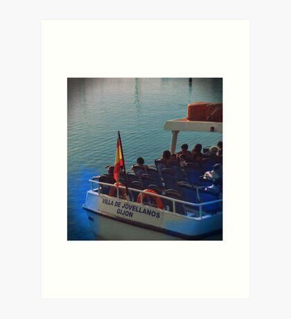 Barco de pasaje en Gijón Art Print