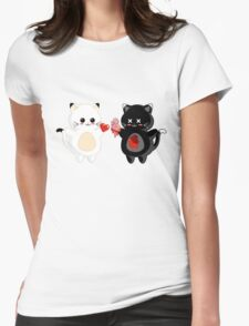 Kawaii Kitty Valentine Exchange Womens Fitted T-Shirt