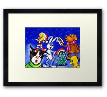 Celebrating Christmas...Harmony among species. Framed Print
