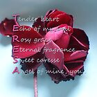 Card with Acrostic for Teresa by Dulcina