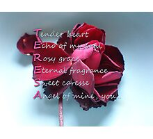 Card with Acrostic for Teresa Photographic Print