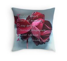 Card with Acrostic for Teresa Throw Pillow