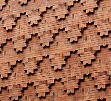 Brick Patterns on a Wall, Turin, Italy by Indrani Ghose