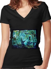 Conversations in Mayan Women's Fitted V-Neck T-Shirt