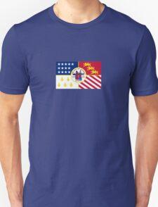 Detroit City Flag - Revival Pride Motor Car Bumper Sticker Shirt T-Shirt