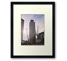 in the shadows of giants Framed Print