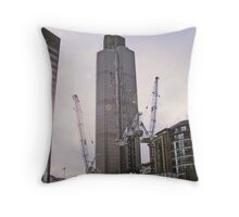 in the shadows of giants Throw Pillow