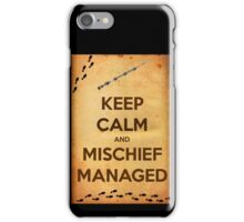 Keep Calm and Mischief Managed iPhone Case/Skin