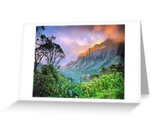 The valley between the mountains Greeting Card
