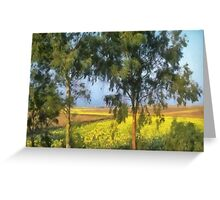 Trees watching over the fields Greeting Card