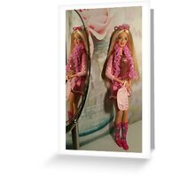 Giselle in the Mirror Greeting Card