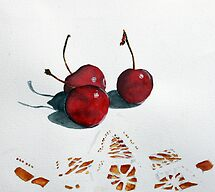 Cherries and Lace by Christiane  Kingsley