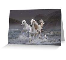 Wild horses on the beach Greeting Card