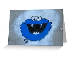 The Blue Fuzzy Monster Greeting Card
