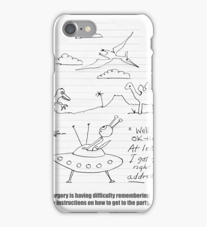 The Alien And The Time Travel Party iPhone Case/Skin