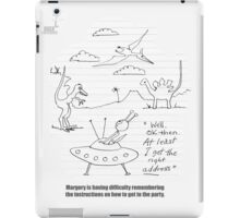 The Alien And The Time Travel Party iPad Case/Skin