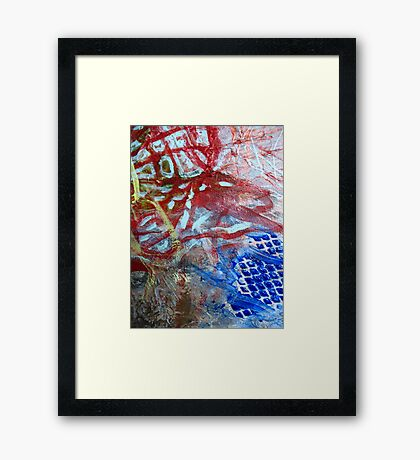 2010 Abstract Acrylic, Detail Framed Print