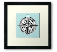Compass with Sun  Framed Print