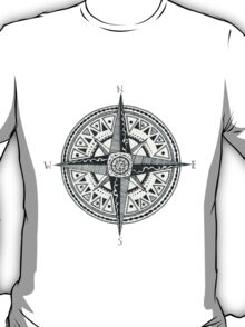 Compass with Sun  T-Shirt