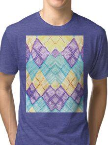 Colored Chessboard Tri-blend T-Shirt
