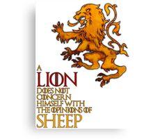 Lanniser Lion Canvas Print