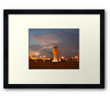 Air Traffic Control Tower and Lightning Framed Print