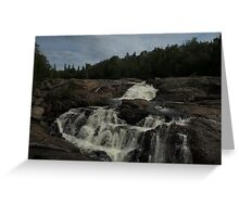 White Sands waterfall (2) Northern Ontario Greeting Card