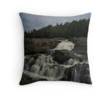 White Sands waterfall (2) Northern Ontario Throw Pillow