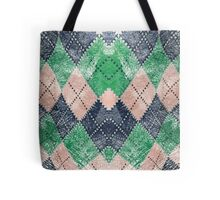 Colored Chessboard Tote Bag