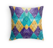 Colored Chessboard Throw Pillow