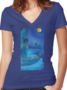 kingship Women's Fitted V-Neck T-Shirt
