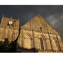 Eglise de Saint Savinien Photographic Print
