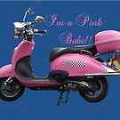 Pink Scooter by Dawnsuzanne