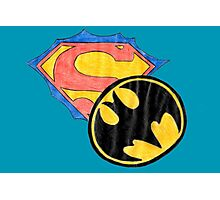 Superman, batman. Photographic Print