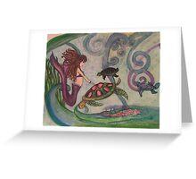Violet Mermaid Greeting Card