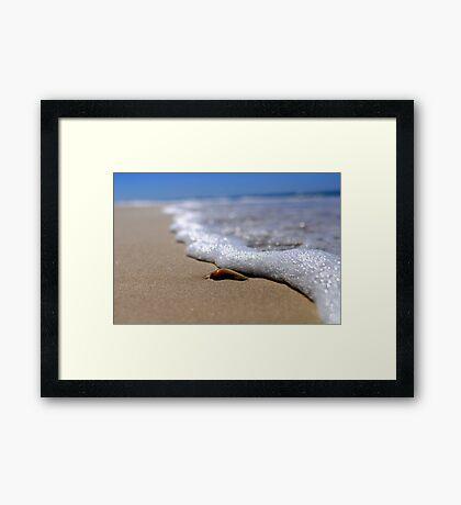 Gold Coast sea beach, back to the nature.. Framed Print