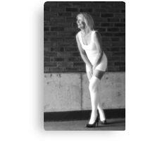 Little White Dress 018 Canvas Print
