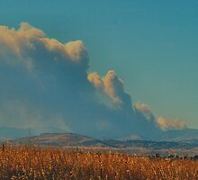 Wildfire West of Boulder, Colorado by Barb Miller