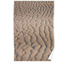 Sand texture at low tide Poster