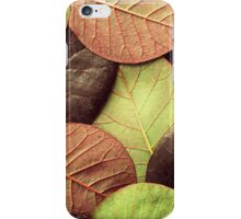 Brown Leaf Pattern iPhone Case/Skin