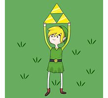 Triforce Link/Adventure Time Parody Mashup Photographic Print