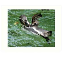 Penguin Wave Art Print
